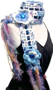 CHARITY OPPORTUNITY-bOOBIEq FOR PROJECT qUEMO -BLUE SCARF-
