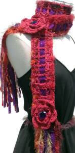 RED BOHEMIAN SCARF CHARITY OPPORTUNITY- bOOBIE q FOR PROJECT QUEMO