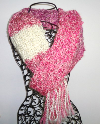 scarf_hand_knitted_in_variegate_pink_yarn_with_cream_stripe_homespun_3ab92fc9