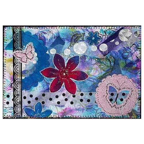 mixed_media_artcard-_blue_with_rose_flower_and_dots_by_sue_andrus_b648f95a